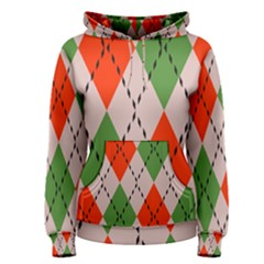 Argyle Pattern Abstract Design Pullover Hoodie