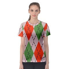 Argyle pattern abstract design Women s Sport Mesh Tee