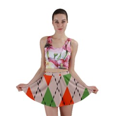 Argyle pattern abstract design Mini Skirt