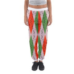 Argyle pattern abstract design Women s Jogger Sweatpants