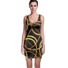 Futuristic Ornate Print Bodycon Dress