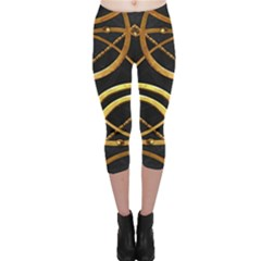 Futuristic Ornate Print Capri Leggings