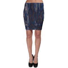 Blue black texture Bodycon Skirt