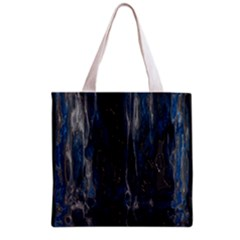 Blue Black Texture Grocery Tote Bag