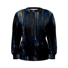 Blue Black Texture Sweatshirt