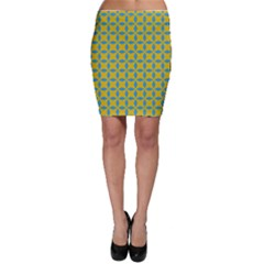 Blue diamonds pattern Bodycon Skirt