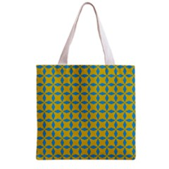 Blue diamonds pattern Grocery Tote Bag