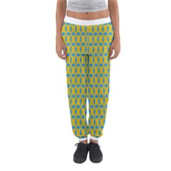 Blue Diamonds Pattern Women s Jogger Sweatpants