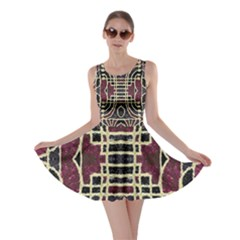 Tribal Style Ornate Grunge Pattern  Skater Dress