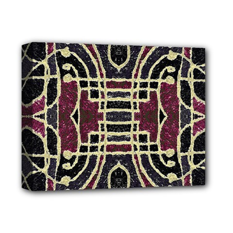 Tribal Style Ornate Grunge Pattern  Deluxe Canvas 14  X 11  (framed)