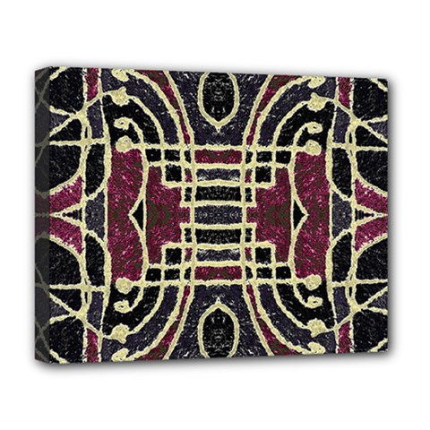Tribal Style Ornate Grunge Pattern  Deluxe Canvas 20  X 16  (framed)