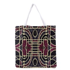 Tribal Style Ornate Grunge Pattern  Grocery Tote Bag
