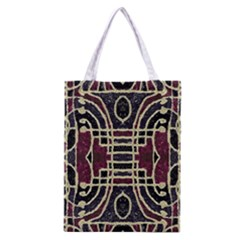 Tribal Style Ornate Grunge Pattern  Classic Tote Bag