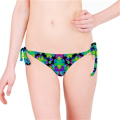 Multicolored Floral Print Geometric Modern Pattern Bikini Bottom