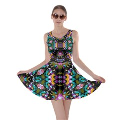 Digital Futuristic Geometric Pattern Skater Dress