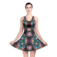 Digital Futuristic Geometric Pattern Reversible Skater Dress