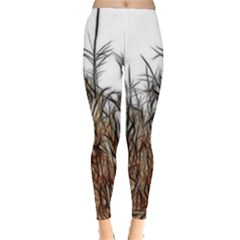 Abstract Of A Cornfield Leggings