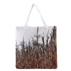 Abstract Of A Cornfield Grocery Tote Bag