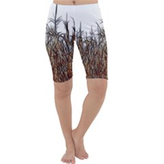 Abstract of a Cornfield Cropped Leggings