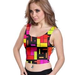 Squares and rectangles Crop Top
