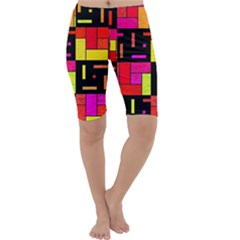 Squares and rectangles Cropped Leggings