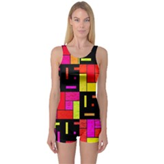 Squares and rectangles Women s Boyleg Swimsuit
