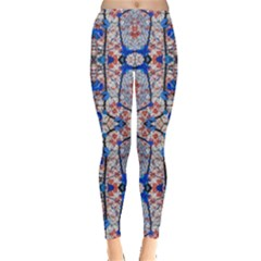 Floral Pattern Digital Collage Leggings