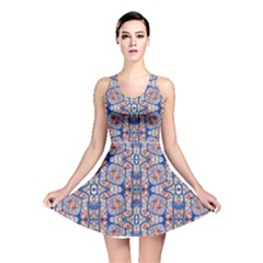 Floral Pattern Digital Collage Reversible Skater Dress