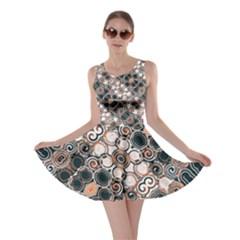 Modern Arabesque Pattern Print Skater Dress