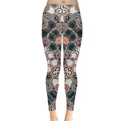 Modern Arabesque Pattern Print Leggings