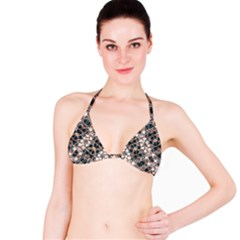 Modern Arabesque Pattern Print Bikini Top