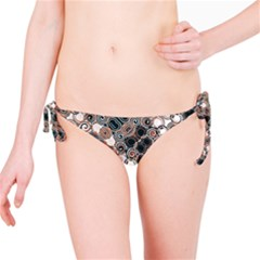 Modern Arabesque Pattern Print Bikini Bottom