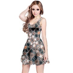 Modern Arabesque Pattern Print Sleeveless Dress