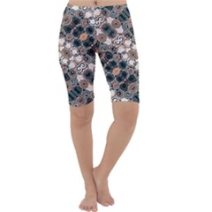 Modern Arabesque Pattern Print Cropped Leggings