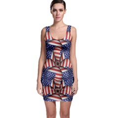 Modern Usa Flag Motif  Bodycon Dress