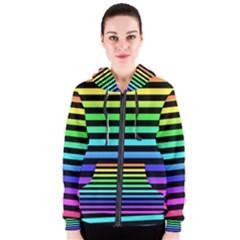 Rainbow Stripes Women s Zipper Hoodie