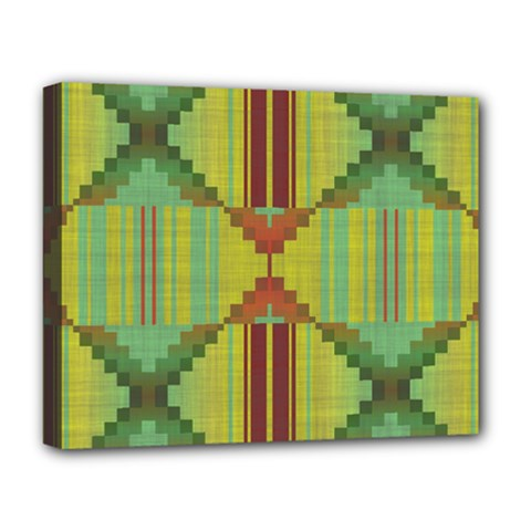 Tribal Shapes Deluxe Canvas 20  X 16  (stretched)