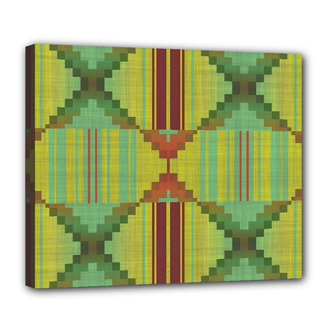 Tribal Shapes Deluxe Canvas 24  X 20  (stretched)