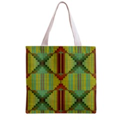 Tribal Shapes Grocery Tote Bag