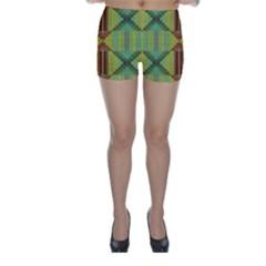 Tribal shapes Skinny Shorts