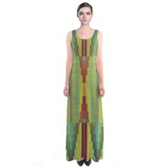 Tribal shapes Full Print Maxi Dress