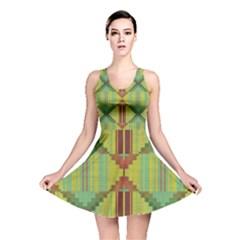 Tribal shapes Reversible Skater Dress