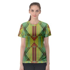 Tribal Shapes Women s Sport Mesh Tee