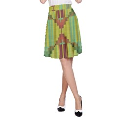 Tribal shapes A-line Skirt
