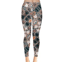 Modern Floral Decorative Pattern Print Leggings