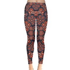 Modern Floral Decorative Leggings