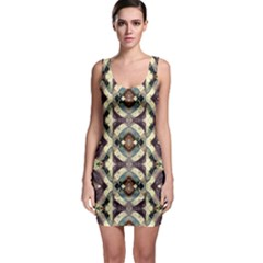 Geometric Abstract Grunge Bodycon Dress