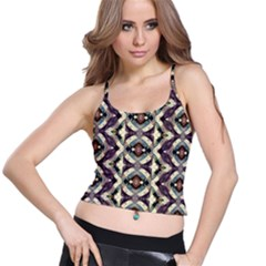 Geometric Abstract Grunge Women s Spaghetti Strap Bra Top