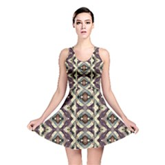 Geometric Abstract Grunge Reversible Skater Dress