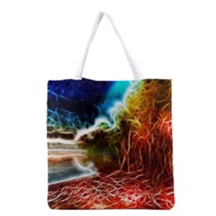 Abstract on the Wisconsin River Grocery Tote Bag